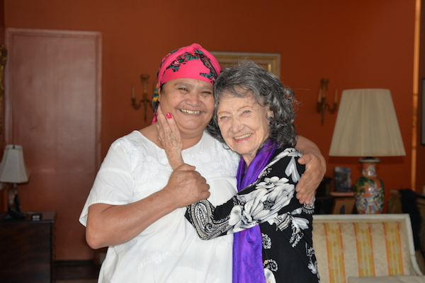 Master Healer Dona Leova and Yoga Master Tao Porchon-Lynch