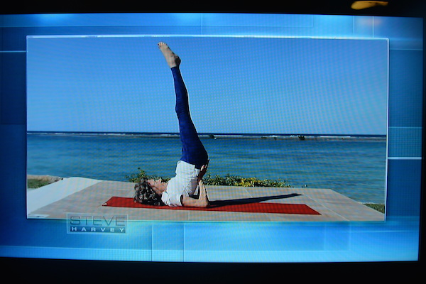 96-year-old yoga master Tao Porchon-Lynch on the Steve Harvey Show - Footage from Jamaica