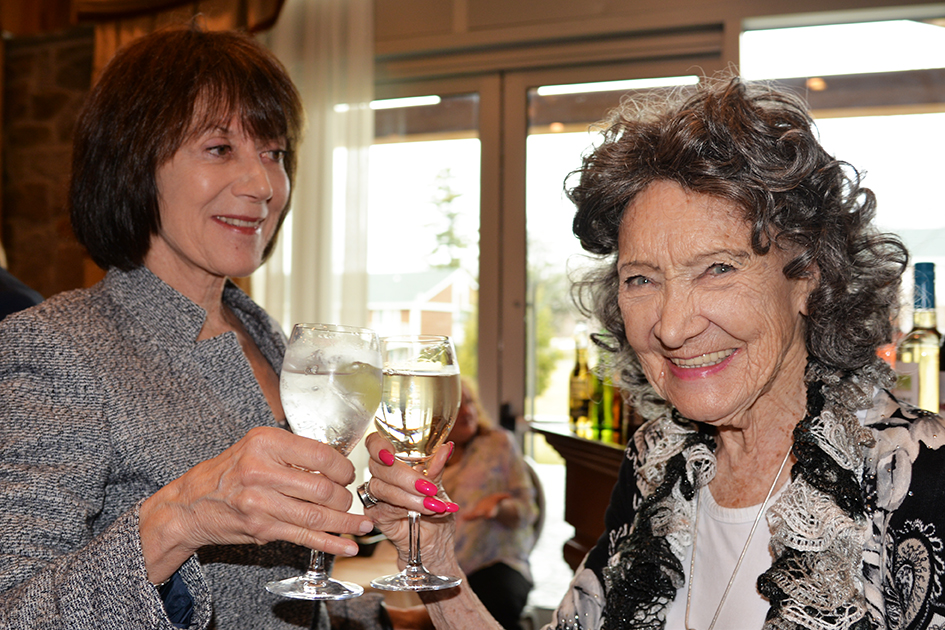 Carolyn Glickstein and Tao Porchon-Lynch at the 31st Annual Women's Hall of Fame - 03/27/15