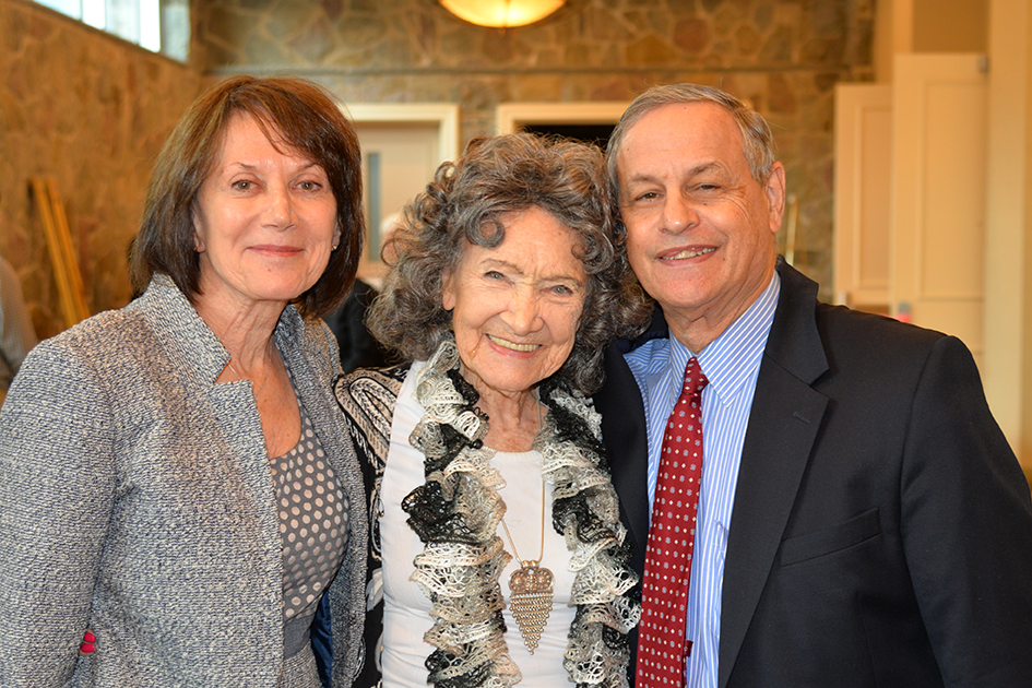 Carolyn Glickstein, Tao Porchon-Lynch and Rick Glickstein at the 31st Annual Women's Hall of Fame in Tarrytown, NY - 03/27/15