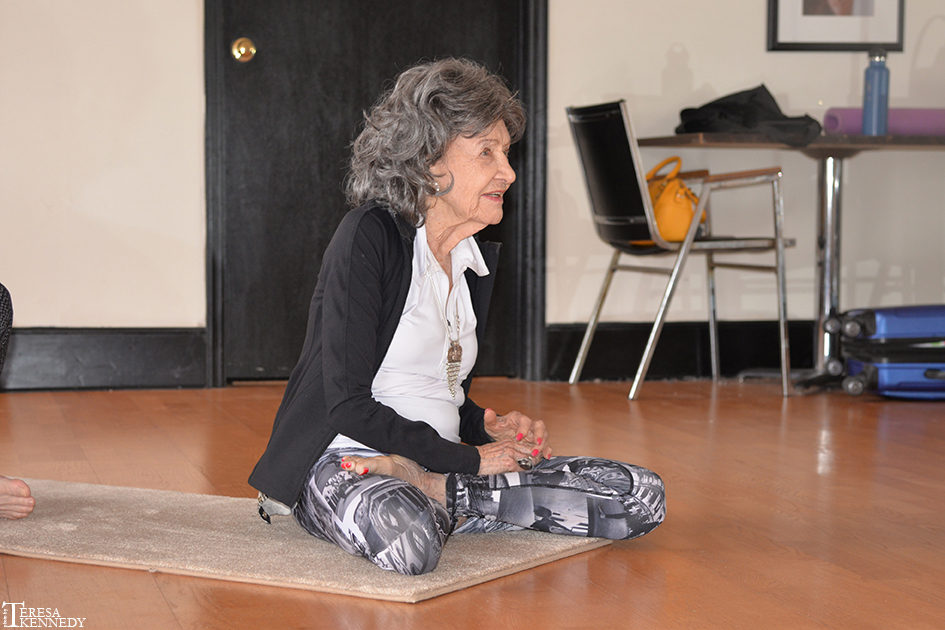 96-year-old Yoga Master Tao Porchon-Lynch hosting AcroYoga Class with Chris Loebsack