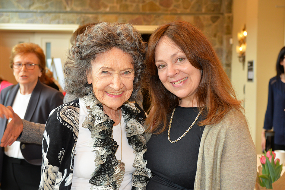 Tao Porchon-Lynch with attendees at the 31st Annual Women's Hall of Fame in Tarrytown, NY - 03/27/15