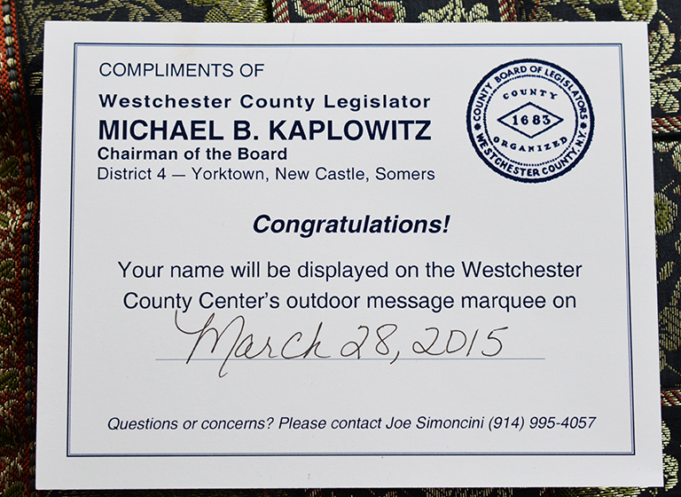 March 28, 2015 is Tao Porchon-Lynch Day in Westchester County