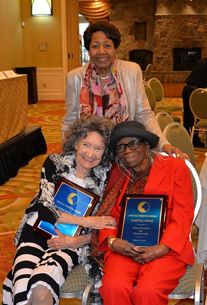Alfreda A. Williams, 96-year-old Tao Porchon-Lynch and 95-year-old Nancy Finch at the 31st Annual Women's Hall of Fame Luncheon in Tarrytown, NY - 03/27/15