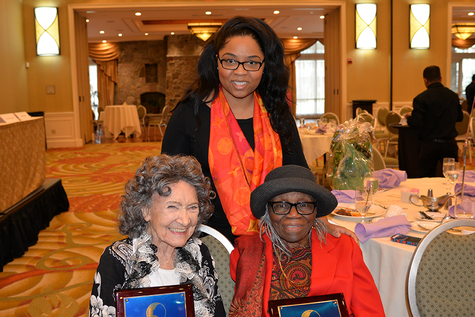 96-year-old Tao Porchon-Lynch, 95-year-old Nancy Finch and granddaughter at the 31st Annual Women's Hall of Fame Luncheon in Tarrytown, NY - 03/27/15