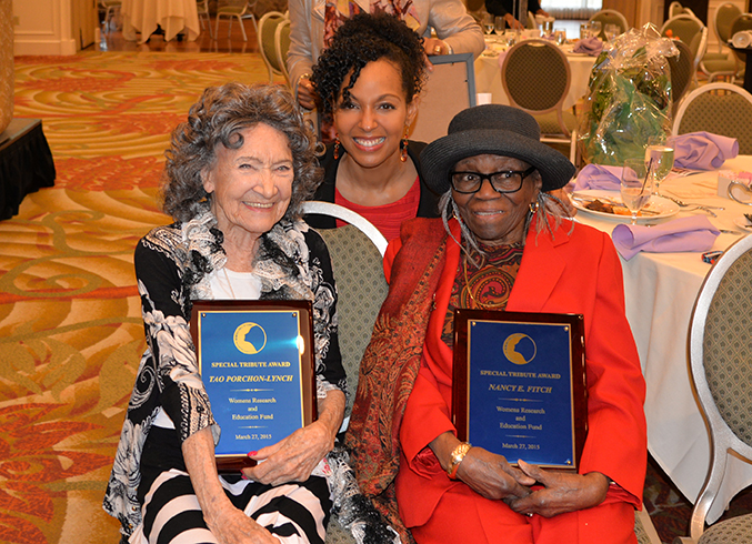 96-year-old Tao Porchon-Lynch, Teresa Kay-Aba Kennedy, and 95-year-old Nancy Fitch at the 31st Annual Women's Hall of Fame in Tarrytown, NY - 03/27/15