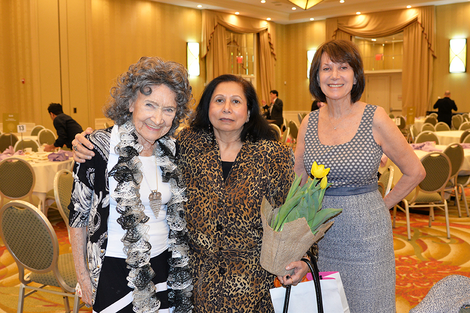 96-year-old Tao Porchon-Lynch, Veena Jagasia and Carolyn Glickstein at the 31st Annual Women's Hall of Fame in Tarrytown, NY - 03/27/15
