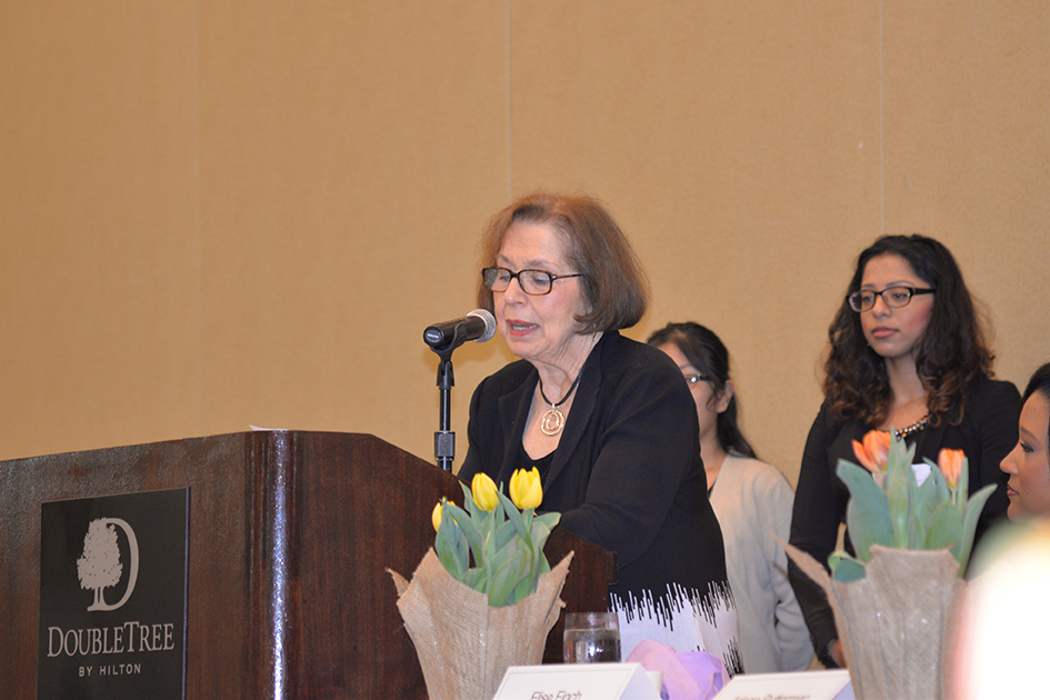 Anveeta Jagasia receiving scholarship from the Women's Research and Education Fund at the 31st Annual Women's Hall of Fame Luncheon in Tarrytown, NY - 03/27/15