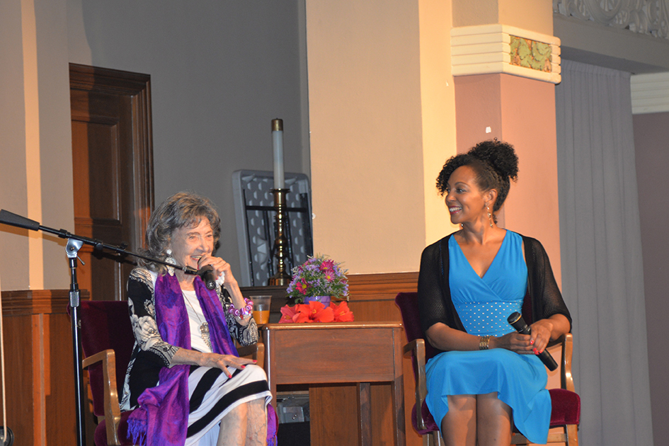 97-year-old Tao Porchon-Lynch and Teresa Kay-Aba Kennedy in