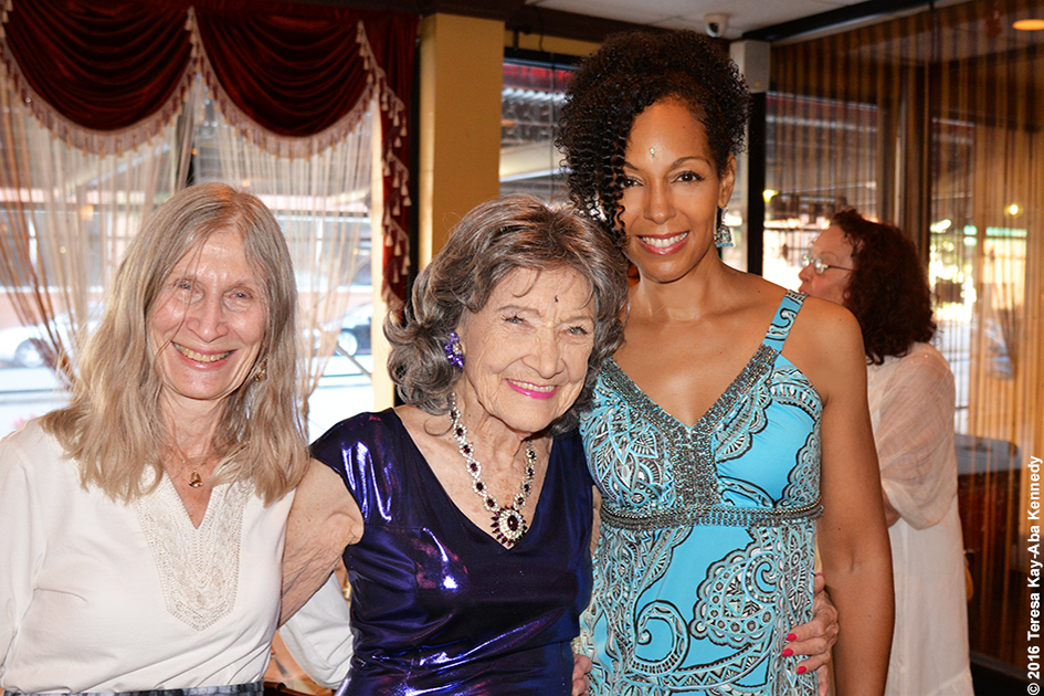 Teresa Kay-Aba Kennedy with Yoga Master Tao Porchon-Lynch at her 98th Birthday Party at the Taj Palace Restaurant in White Plains, NY - August 7, 2016