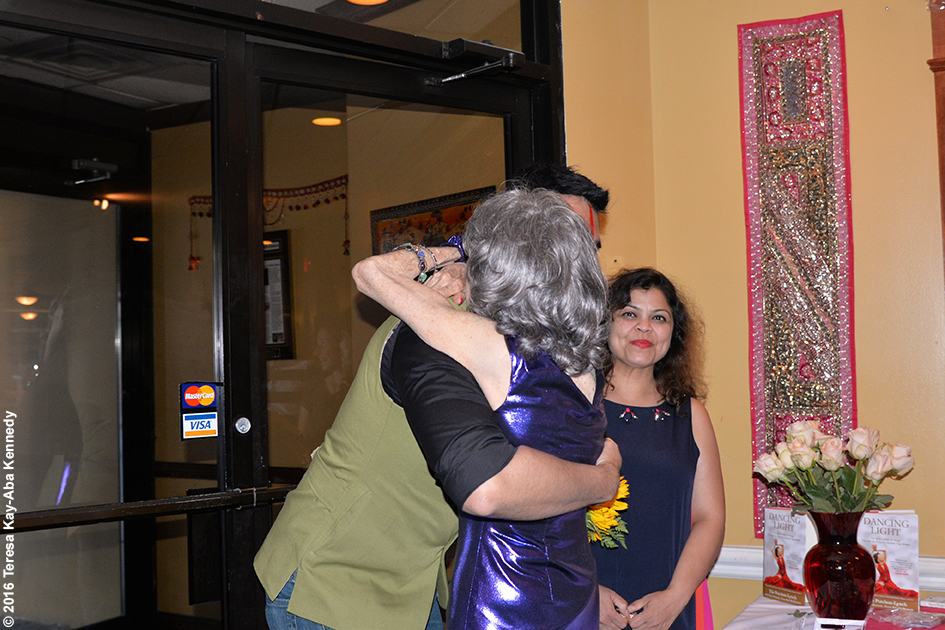 Sandip Soparrkar surprising at Yoga Master Tao Porchon-Lynch at her 98th Birthday Party at the Taj Palace Restaurant in White Plains, NY - August 7, 2016
