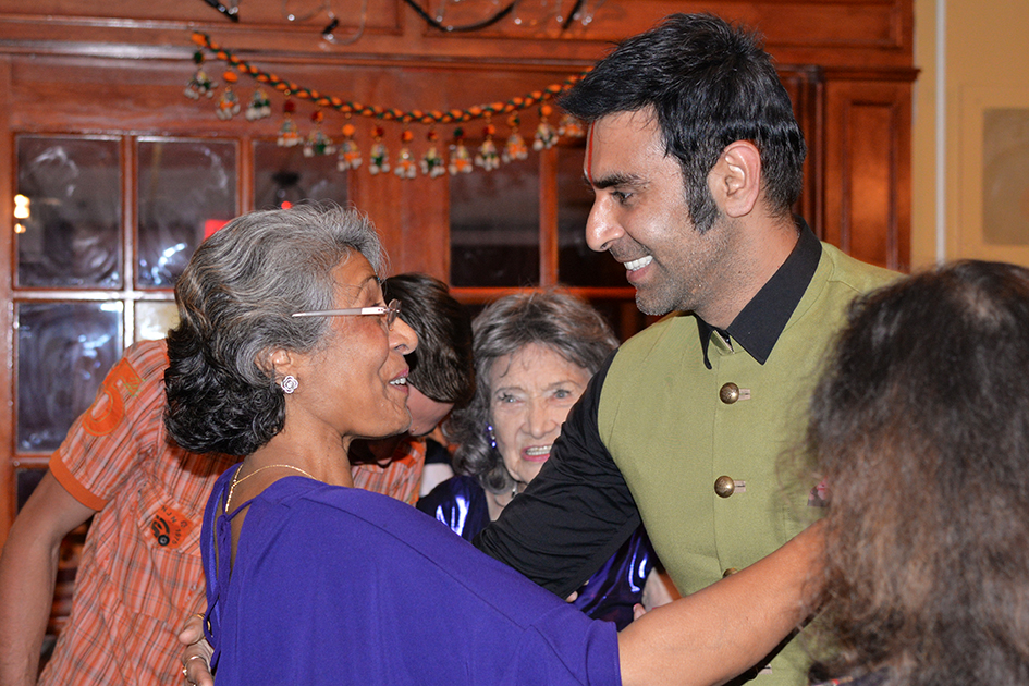 Sandip Soparrkar at Yoga Master Tao Porchon-Lynch's 98th Birthday Party in White Plains, NY - August 7, 2016