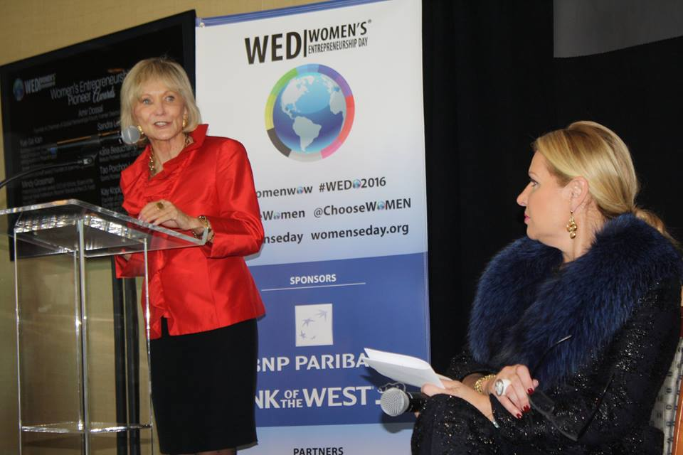 Kay Koplovitz and Mindy Grossman at Women's Entrepreneurship Day at the United Nations in New York - November 18, 2016