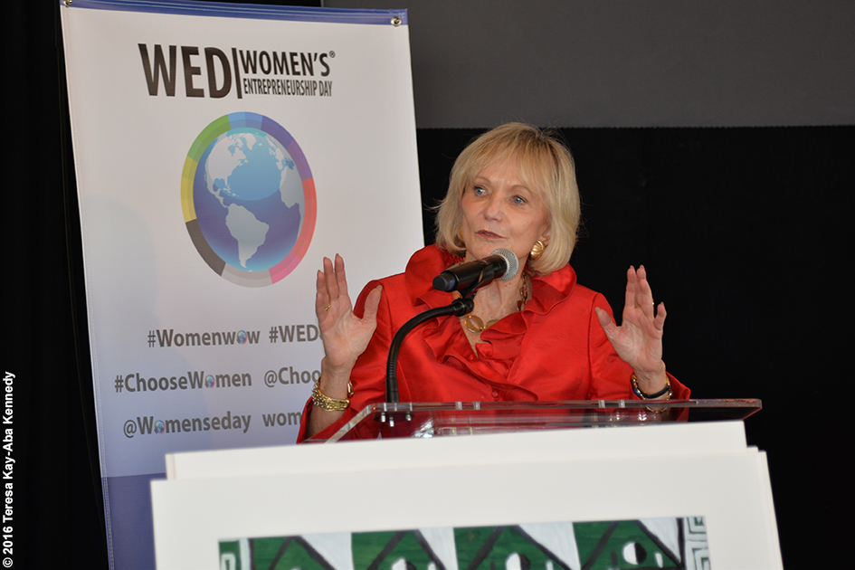 Kay Koplovitz at Women's Entrepreneurship Day at the United Nations in New York - November 18, 2016