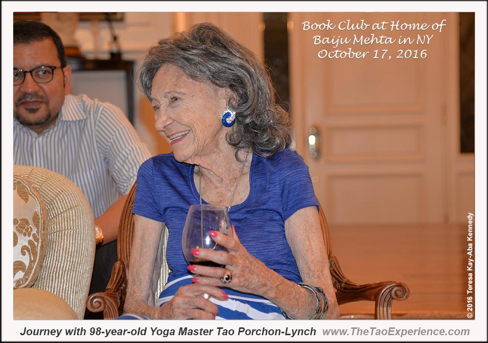 98-year-old Tao Porchon-Lynch at Book Club in NY - October 17, 2016
