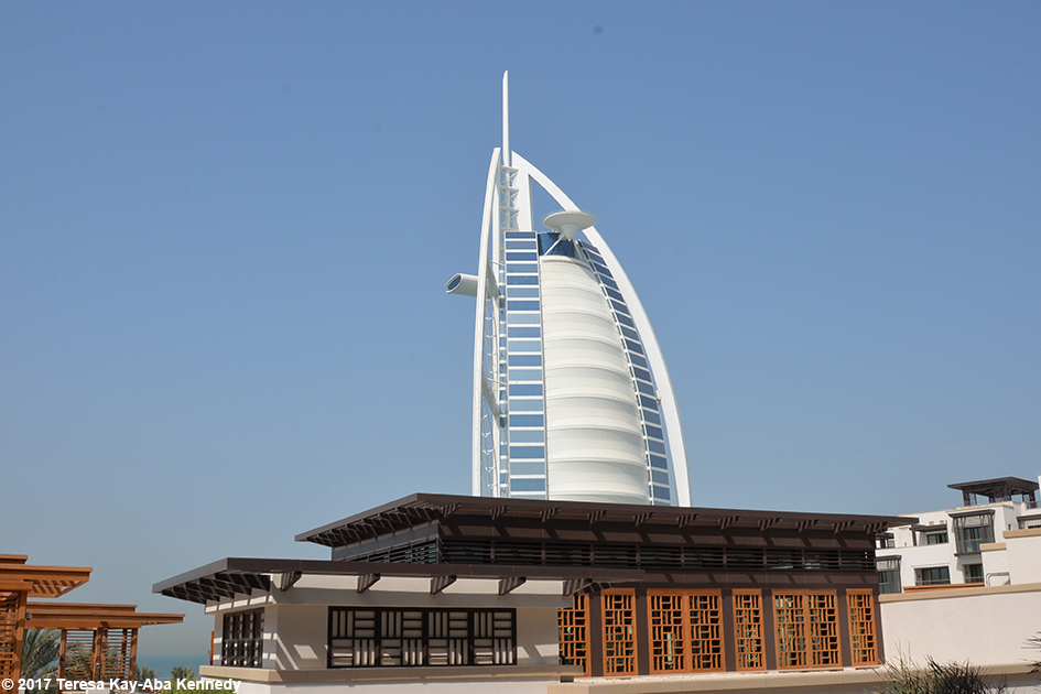 View of Burj Al Arab from the Jumeriah Al Naseem Resort in Dubai - February 11, 2017