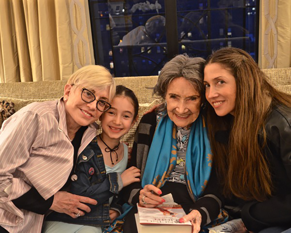 Book party for 98-year-old yoga master Tao Porchon-Lynch hosted at the home of Joan and George Hornig in New York - April 27, 2017