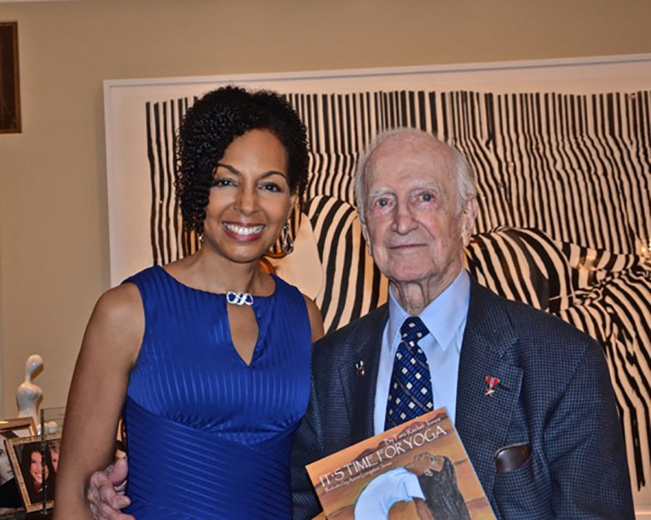 Teresa Kay-Aba Kennedy at book party for 98-year-old yoga master Tao Porchon-Lynch hosted at the home of Joan and George Hornig in New York - April 27, 2017