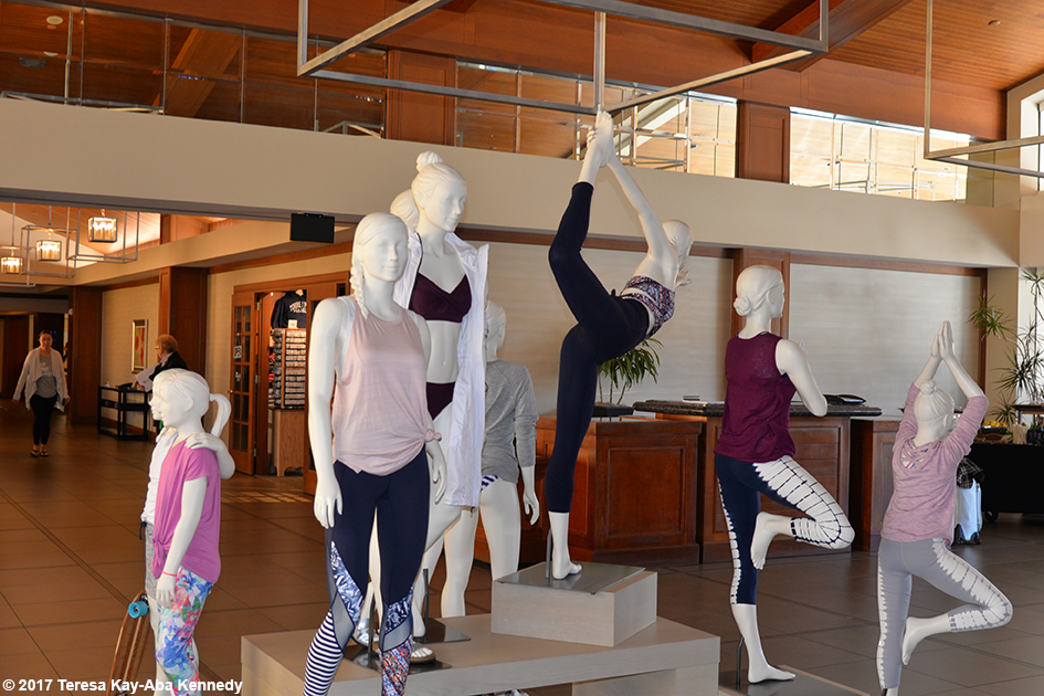 Athleta Display at Hilton Torrey Pines in San Diego - March 9, 2017