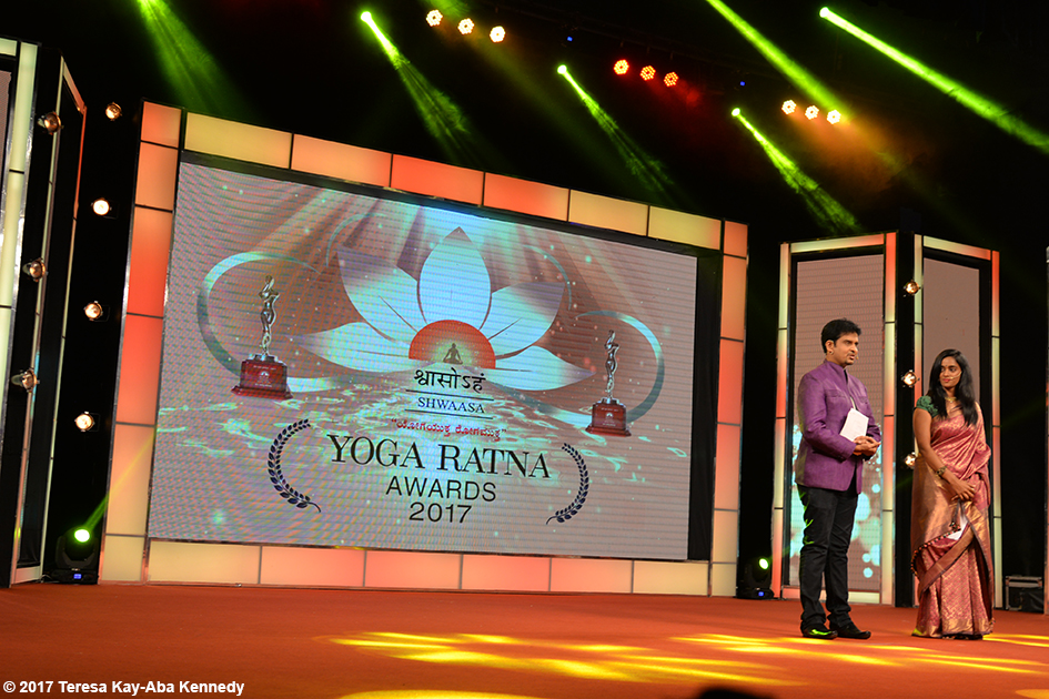 Yoga Ratna Award ceremony in Bangalore, India - June 20, 2017