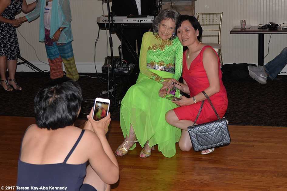 Yoga Master Tao Porchon-Lynch's 99th Birthday Party at Mansion on Broadway in White Plains, NY - August 13, 2017