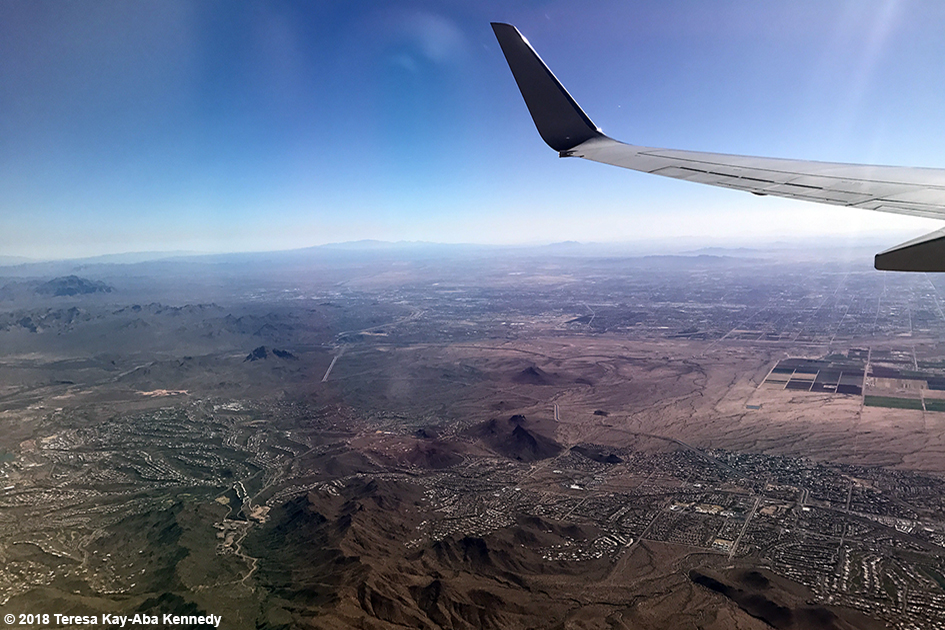 Flying into Arizona - February 7, 2018