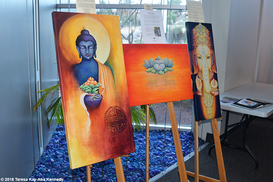 Artwork at the Sedona Yoga Festival - February 10, 2018