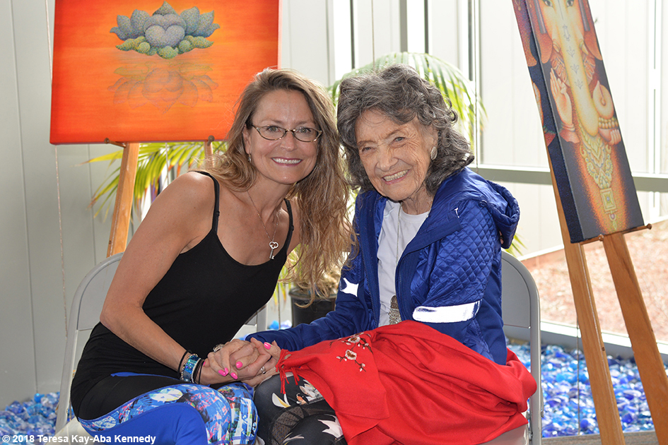 99-year-old yoga master Tao Porchon-Lynch at the Sedona Yoga Festival - February 10, 2018